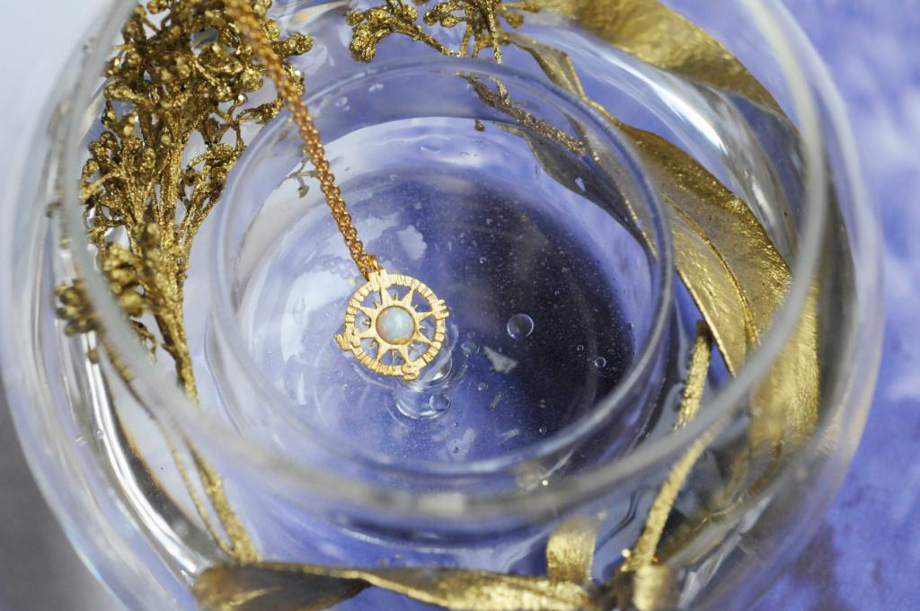 171334BLADOR Collier Rose Des Vents Doré Opale Finition Délicate