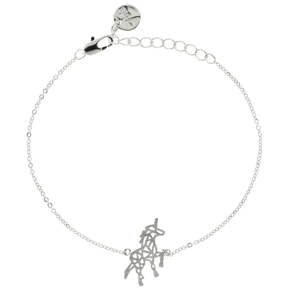 Bracelet Licorne Argent Origami Géométrique - Bijoux 7Bis