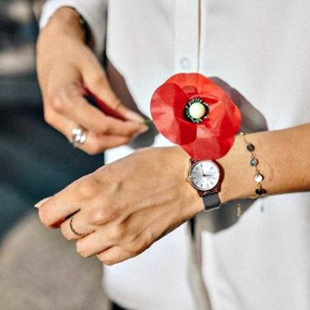 371273GRI Bracelet Nacre Grise Pastille Doré371273GRI Bracelet Nacre Grise Pastille Doré